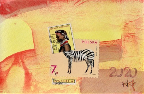 Cartoon: African centaur (medium) by Kestutis tagged africa,centaur,postcard,kunst,art,kestutis,lithuania