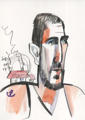 Cartoon: Jonas Valanciunas (medium) by Kestutis tagged basketball,olympics,2016,sports,rio,brazil,games,summer,kestutis,lithuania