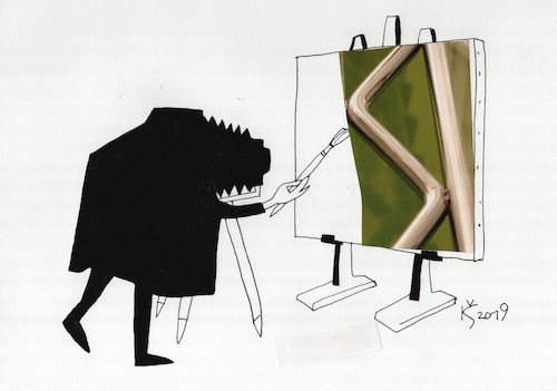Cartoon: Painter (medium) by Kestutis tagged painter,kunst,art