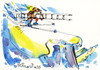 Cartoon: Alpine skiing (small) by Kestutis tagged alpine,skiing,winter,sports,kestutis,lithuania,olympic,sochi,2014,gebirge,mountains,snow,schnee