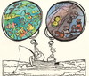 Cartoon: Approach (small) by Kestutis tagged approach fisherman man woman fish kestutis sluota adventure nature angler