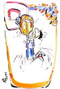 Cartoon: BASKETBALL PLAYERS DREAM (small) by Kestutis tagged basketball,sport,beer,fans
