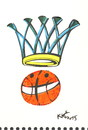 Cartoon: BASKETGALL HUMOURGRAPHY (small) by Kestutis tagged basketball humourgraphy sports kestutis lithuania joker harlequin humor