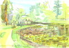 Cartoon: Bonn Botanischer Garten (small) by Kestutis tagged bonn,botanic,garden,germany,deutschland,kestutis,siaulytis,sketch,watercolor,turtle,aquarell