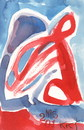 Cartoon: Calligraphic abstraction (small) by Kestutis tagged dada,postcard,kestutis,lithuania,calligraphiy,abstraction
