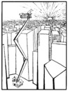 Cartoon: CITY AND MAN (small) by Kestutis tagged city man kestutis lithuania competition catalog home