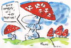 Cartoon: DONT WORRY! (small) by Kestutis tagged fashion forest news vald aktuelles pilze mushrooms socialism communism red rot