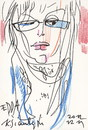 Cartoon: edda von sinnen 3. Sketch (small) by Kestutis tagged edda,von,sinnen,kestutis,lithuania,sketch,winter