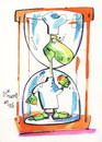Cartoon: Food and Philosophy (small) by Kestutis tagged food,philosophy,turtle,time,cook,pirate,chef,kestutis,lithuania,name,apple,hourglass