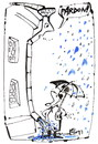 Cartoon: HAPPENING IN THE RAIN (small) by Kestutis tagged umbrella,regenschirm,rain,happening,pardon