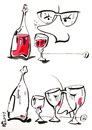 Cartoon: I HELPED GLASSES... (small) by Kestutis tagged wine cup glass glasses