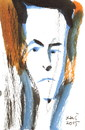 Cartoon: Jean Cocteau (small) by Kestutis tagged art,kunst,kestutis,lithuania,portrait,paris,france
