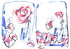 Cartoon: LETTERS (small) by Kestutis tagged letters,rose