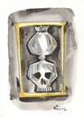 Cartoon: MEMENTO MORI (small) by Kestutis tagged memento mori zeit time sandglass hourglass sanduhr