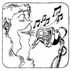 Cartoon: MICROPHONE (small) by Kestutis tagged microphone man woman music song kestutis siaulytis lithuania adventure