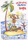 Cartoon: OLYMPIC ISLAND. Award winners (small) by Kestutis tagged award,winners,champion,gold,pirate,ocean,palm,treasure,parrot,medal,cup,london,2012,summer,kestutis,siaulytis,lithuania,turtle