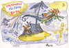 Cartoon: OLYMPIC ISLAND. Steeplechase (small) by Kestutis tagged steeplechase horse london olympics ocean 2012 island desert summer kestutis siaulytis seepferdchen seahorse sport month lithuania
