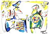 Cartoon: PARTY (small) by Kestutis tagged painter,artist,general