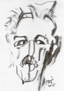 Cartoon: Sketch. Ceslovas Polonskis (small) by Kestutis tagged sketch,kestutis,lithuania,art,kunst