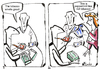 Cartoon: TALK AT THE TABLE (small) by Kestutis tagged happening,table,mint,tea,pipe,rohr