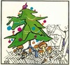Cartoon: Under the Christmas tree (small) by Kestutis tagged christmas weihnachten neujahr new year mushrooms pilze kestutis lithuania sluota