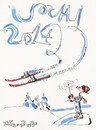 Cartoon: Winter Olympic. Freestyle skiing (small) by Kestutis tagged freestyle,skiing,winter,sports,olympic,sochi,2014,kestutis,lithuania