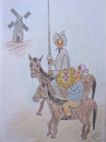 Cartoon: Don Quixote and Sancho Pizza (small) by Zoran tagged pizzapitch