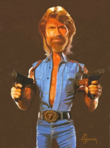 Cartoon: Chuck Norris (medium) by cristianst tagged karate