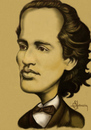 Cartoon: Eminescu (small) by cristianst tagged cartoon