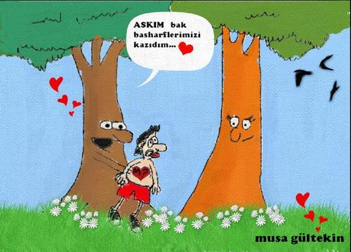 Cartoon: ask love (medium) by musa gültekin tagged ask,love,musa,gültekin