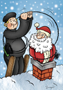Cartoon: Surprise (small) by dragas tagged nikola,dragas,happy,new,year,merry,christmas,santa,claus