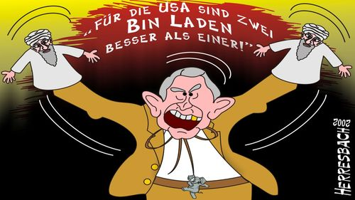 Cartoon: Cartoon 0040 (medium) by cartoonfuzzy tagged laden,bin,bush,usa,humourus,humoristico,globalization,cartoons,cartunes,caricature,caricatura,caricaturas,karikaturen,politik,political,herresbach,wahlen,freiheit,globalisierung,krieg,michel,deutscher,innenpolitik,aussenpolitik,comixfuzzy,cartoonfuzzy