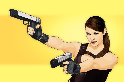Cartoon: Alison Carroll (medium) by cartoon photo tagged cartoon,photo,alison,carroll,playstation,icon,tomb,raider,game,cartoonized,cartoonization