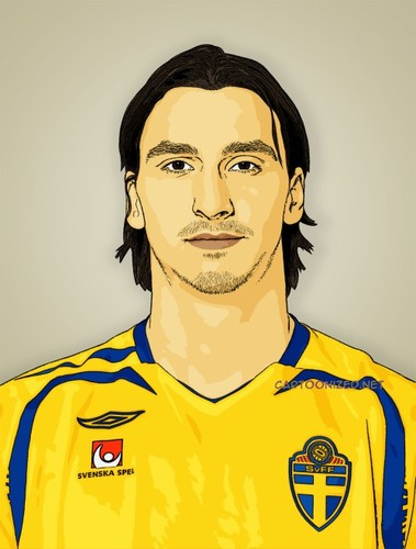 Cartoon: Zlatan Ibrahimovic (medium) by cartoon photo tagged cartoon,photo,zlatan,ibrahimovic,footballer,soccer,sportsman,athlete,cartoonized,cartoonization