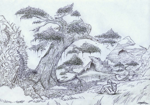 Cartoon: Forest (medium) by James tagged art,illustration,forest,drawing,fantasy,adventure