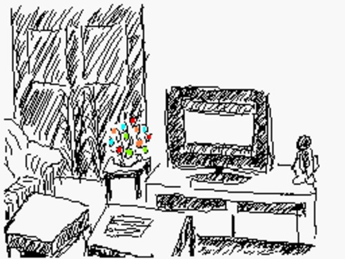 Cartoon: Livingroom_1 (medium) by Franc tagged livingroom