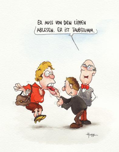 Cartoon: ... (medium) by ms rainer tagged taubstumm,