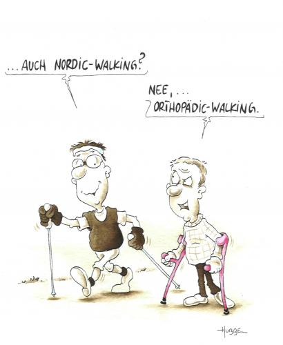 Cartoon: nordic walking (medium) by ms rainer tagged wandern