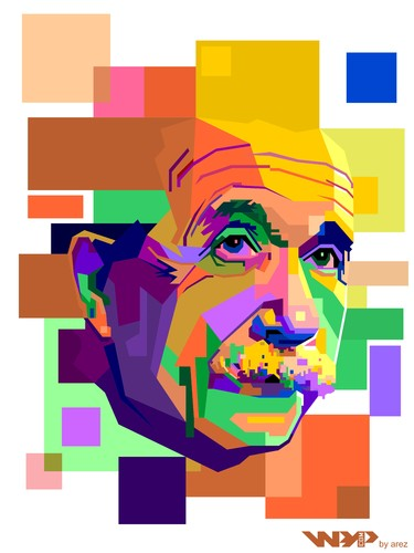 Cartoon: Albert Einstein on WPAP (medium) by areztoon tagged einstein,wpap,wedha,popart
