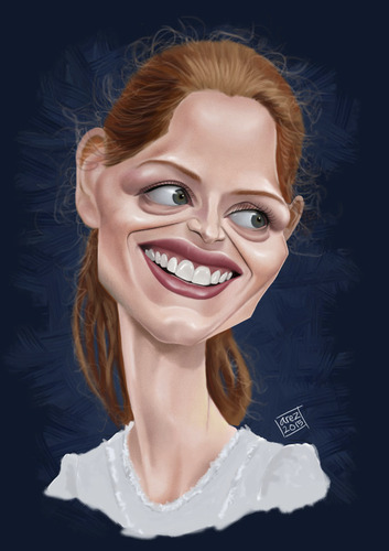 Cartoon: Jessica Michelle Chastain (medium) by areztoon tagged caricature