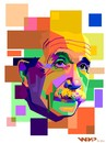 Cartoon: Albert Einstein on WPAP (small) by areztoon tagged einstein,wpap,wedha,popart