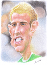 Cartoon: Joe Hart (small) by areztoon tagged caricature,karikatur,joe,hart,goalkeeper