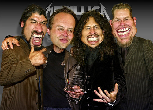 Cartoon: Metallica - A Group Caricature (medium) by RodneyPike tagged metallica,caricature,illustration,rwpike,rodney,pike