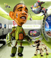 Cartoon: ObamaBot 1.0 (small) by RodneyPike tagged barack,obama,caricature,illustration,rwpike,rodney,pike
