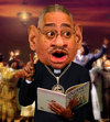 Cartoon: Reverend Jeremiah Wright (small) by RodneyPike tagged reverend,jeremiah,wright,caricature,illustration,rwpike,rodney,pike