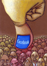 Cartoon: Facebook (small) by luka tagged facebook