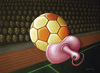 Cartoon: Football toy (small) by luka tagged football
