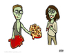 Cartoon: Be Mine (small) by a zillion dollars comics tagged holiday,valentine,love,romance,culture,society,zombies