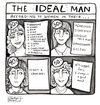 Cartoon: The Ideal Man (small) by a zillion dollars comics tagged dating,relationships,men,women,marriage
