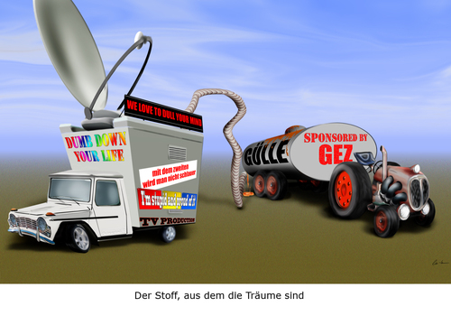 Cartoon: TV Stoff (medium) by KryCha tagged tv,programm